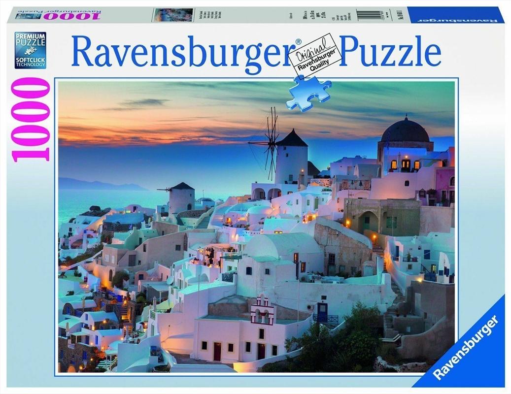 Ravensburger - Evening in Santorini Puzzle 1000 Pieces | Merchandise