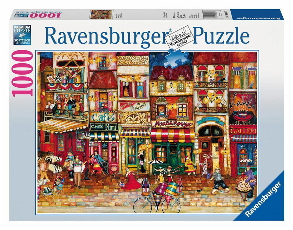 Ravensburger - Streets of France Puzzle 1000 Pieces | Merchandise