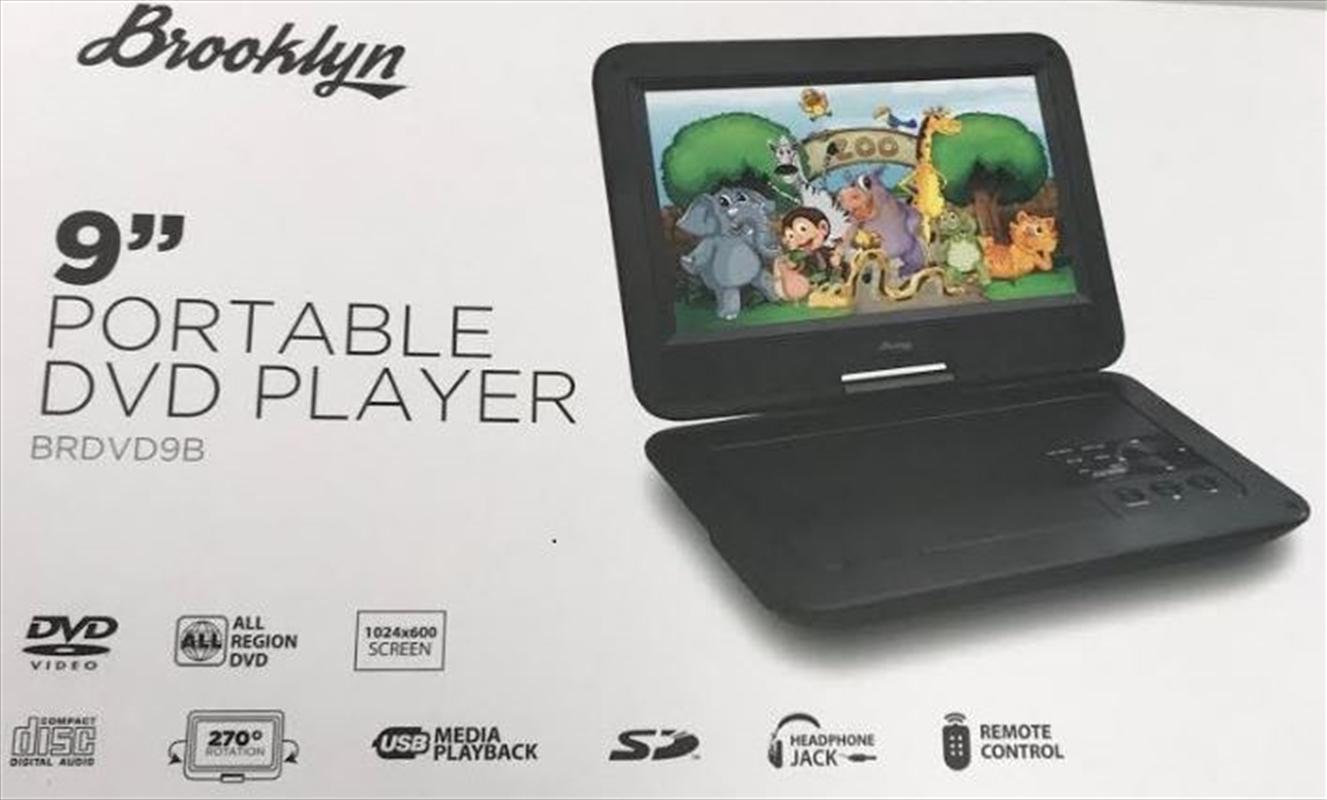 "Portable DVD Player - 9""(Inch) | Merchandise"