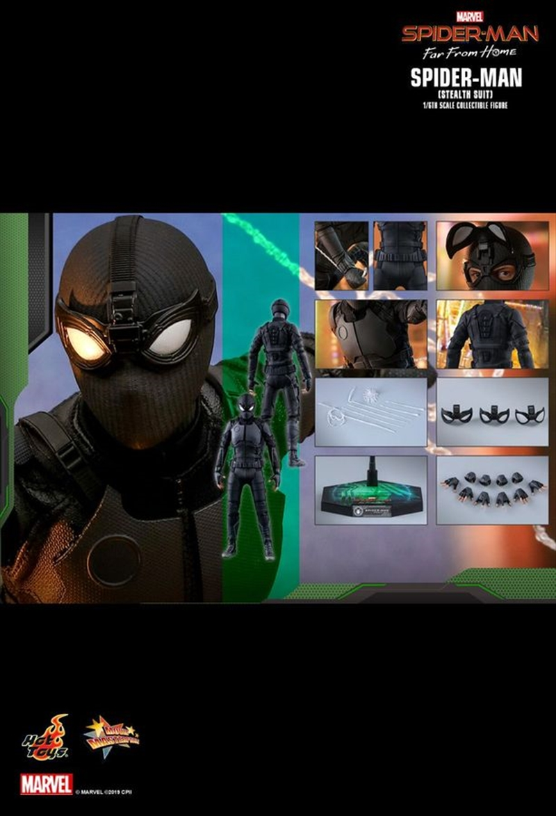 """Spider-Man: Far From Home - Stealth Suit 12"""" 1:6 Scale Action Figure   Merchandise"""