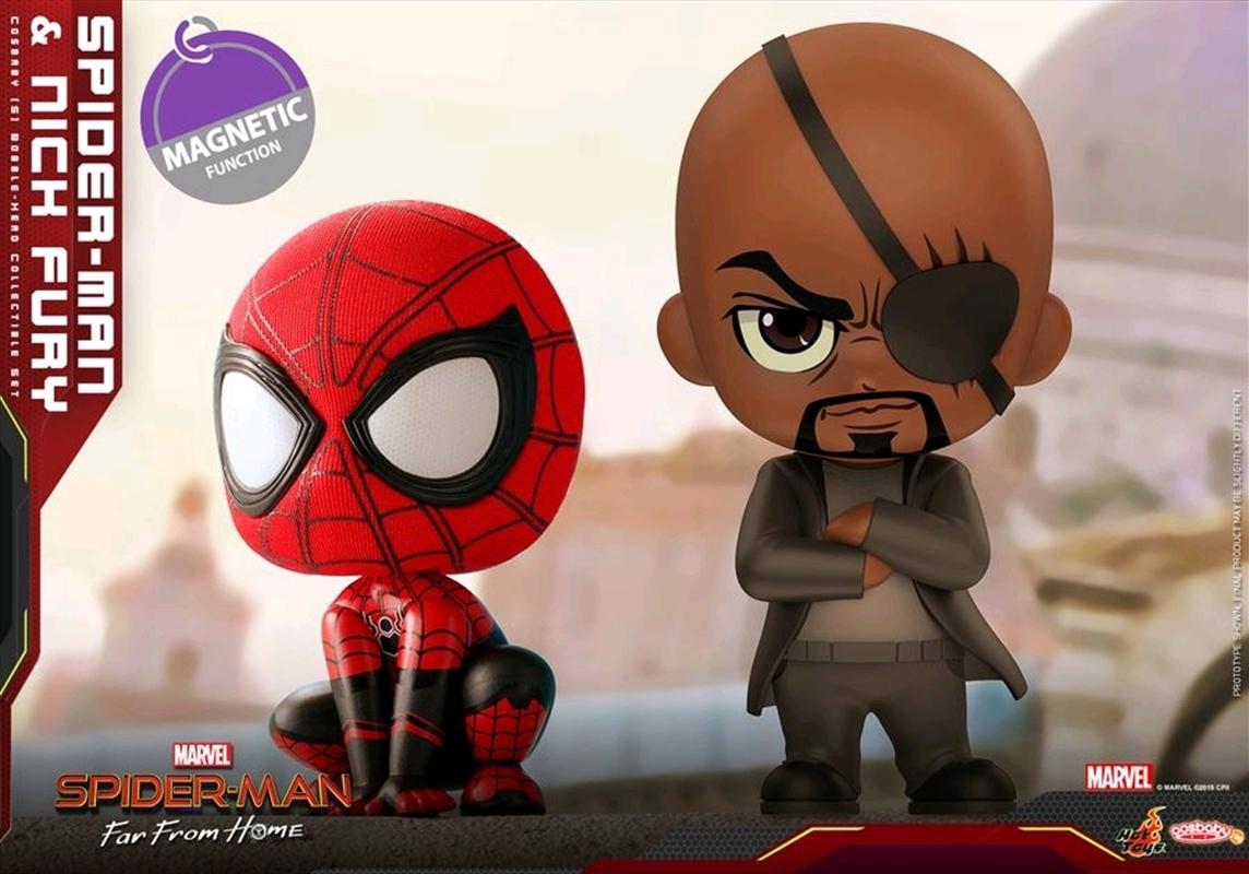 Spider-Man: Far From Home - Spider-Man & Nick Fury Cosbaby Set   Merchandise