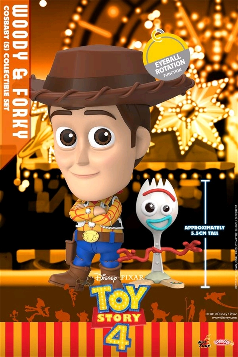 Toy Story 4 - Woody & Forky Cosbaby Set | Merchandise