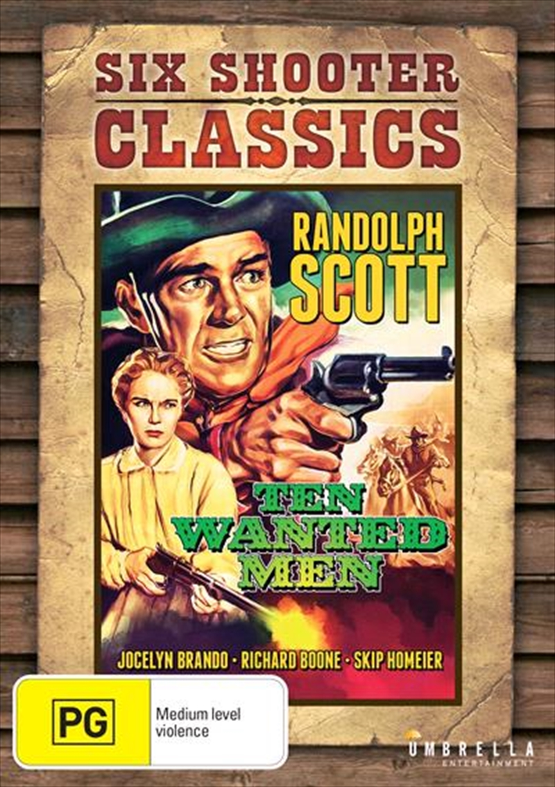 Ten Wanted Men Six Shooter Classics | DVD