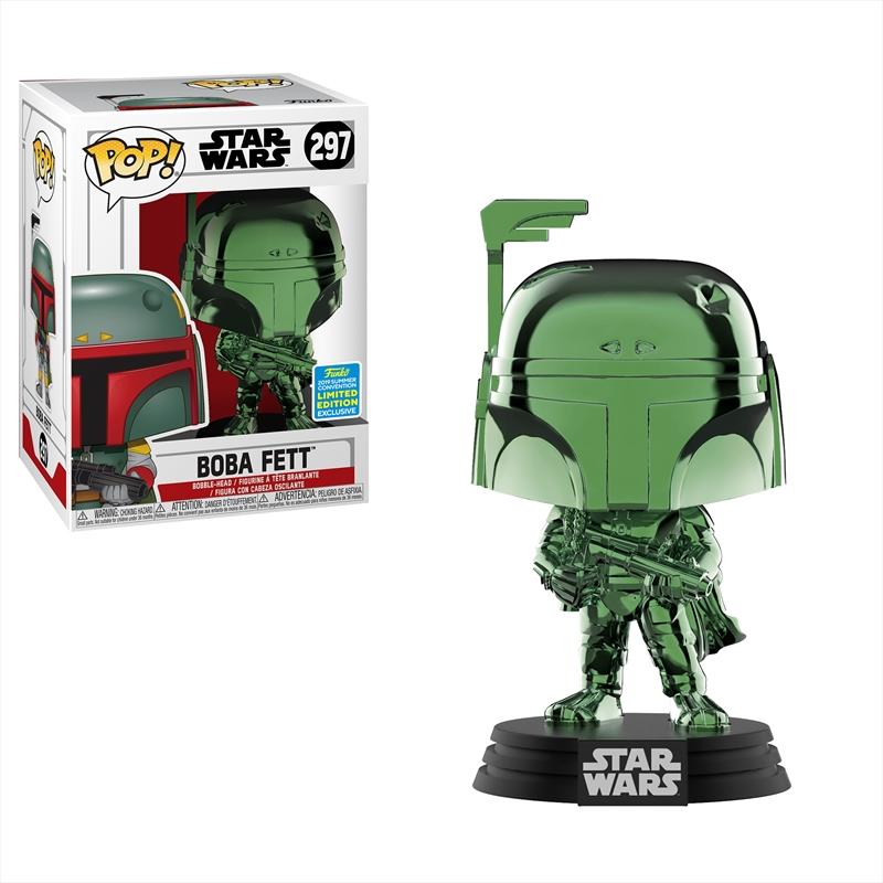 Star Wars - Boba Fett Green Chrome Pop! SDCC 19 RS | Pop Vinyl