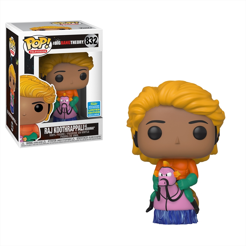 Big Bang Theory - Raj Aquaman Pop! SDCC 19 RS | Pop Vinyl