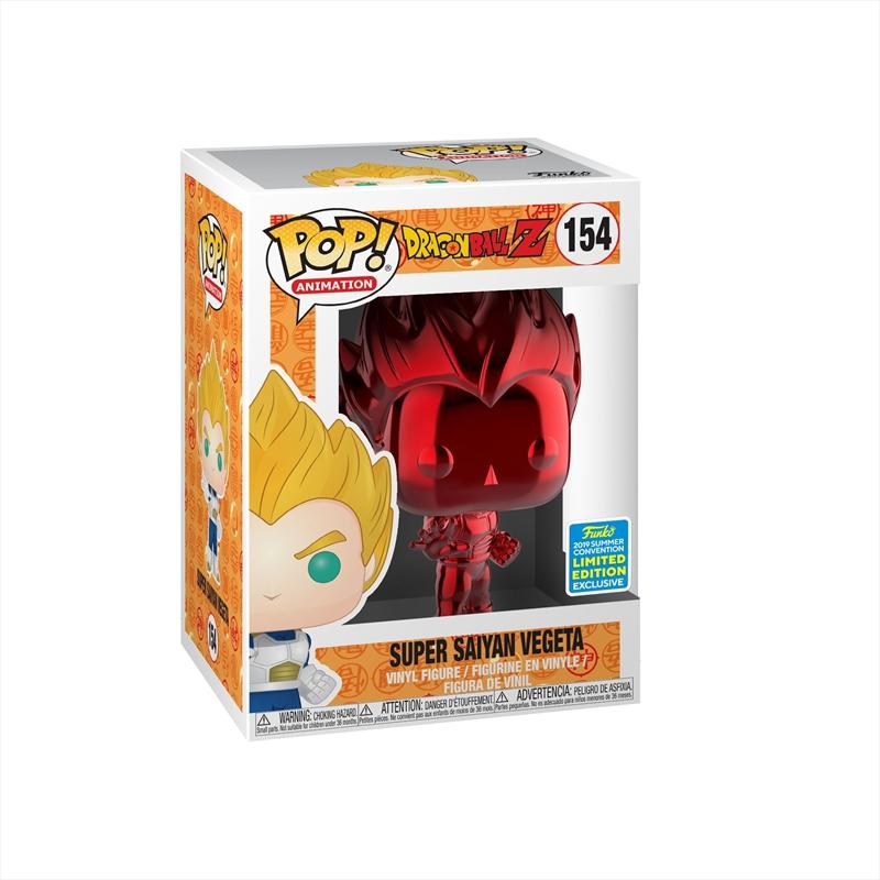 Dragon Ball Z - Vegeta Red Chrome Pop! SDCC 19 RS | Pop Vinyl