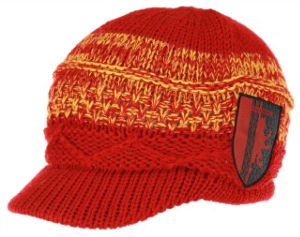 Harry Potter - Gryffindor Knit Brim Cap   Apparel