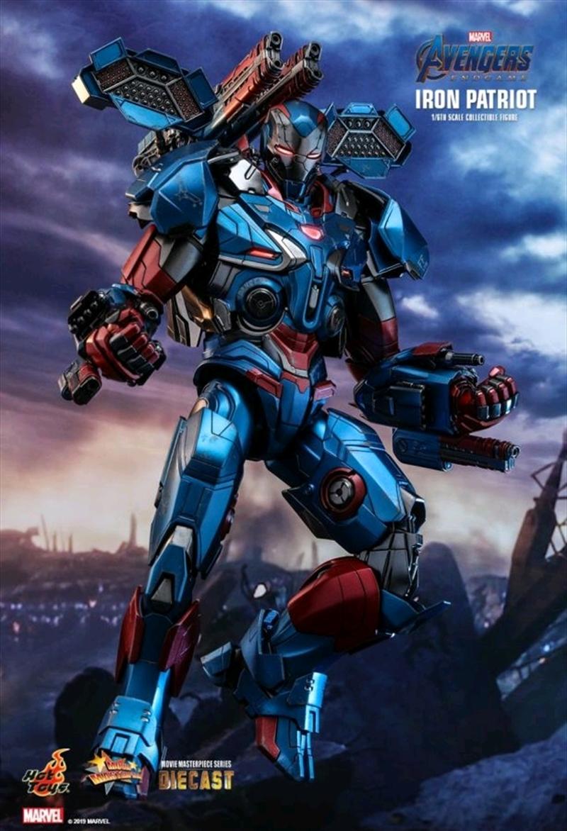 "Avengers 4: Endgame - Iron Patriot Diecast 1:6 Scale 12"" Action Figure | Merchandise"