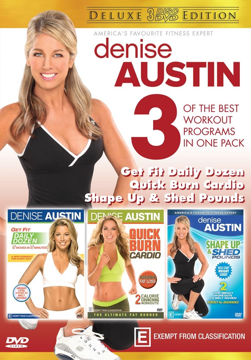 Denise Austin - Get Fit Daily Dozen / Shape Up & Shed Pounds / Quick Burn Cardio - Deluxe Edition | DVD