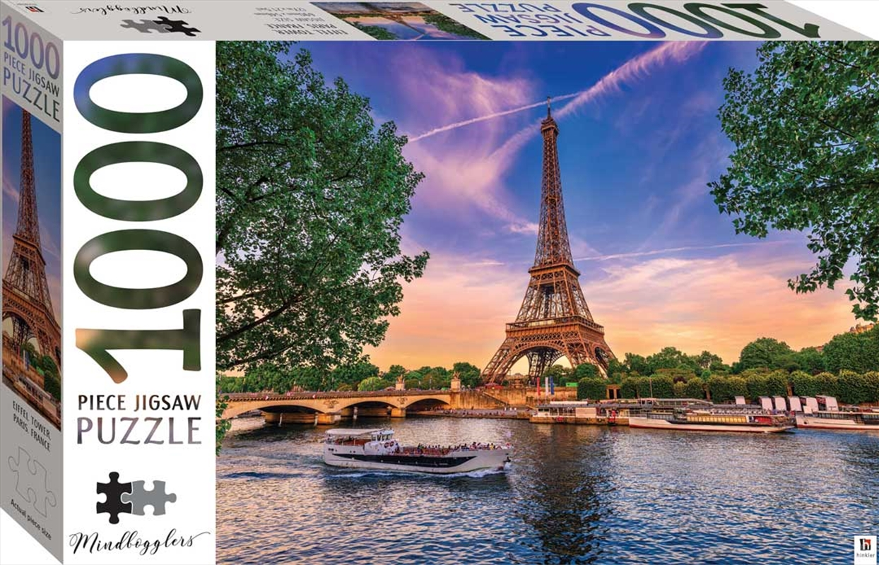 Mindbogglers Series 13: Eiffel Tower, Paris France - 1000 Piece Puzzle | Merchandise