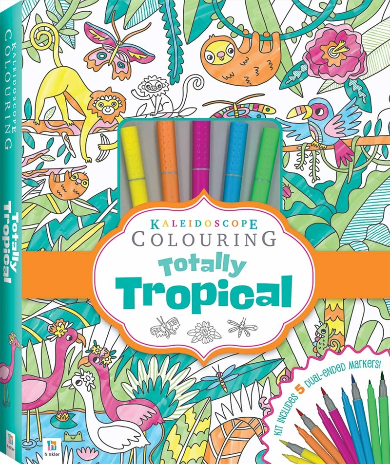 Kaleidoscope Colouring Totally Tropical Marker Kit | Hardback Book