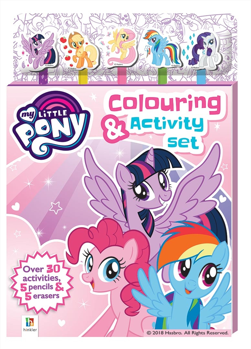 My Little Pony 5-Pencil and Eraser Set | Hardback Book