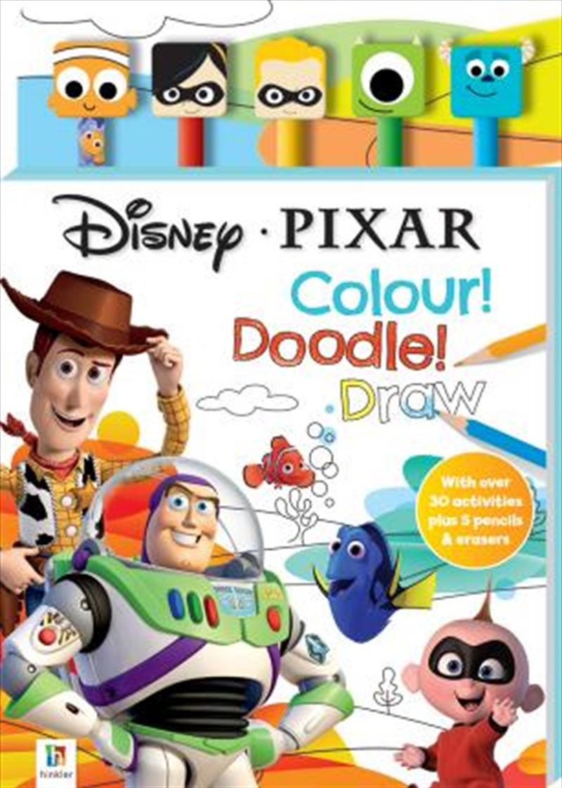 Disney Pixar 5-Pencil and Eraser Set | Hardback Book