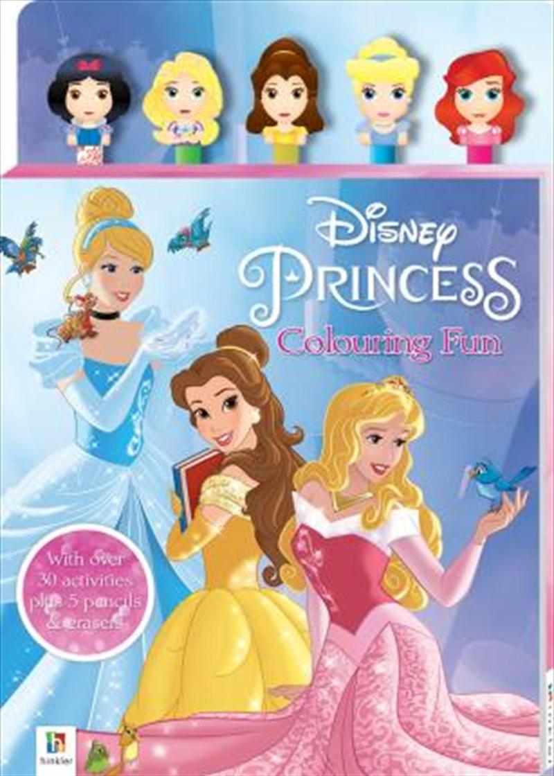 Disney Princess 5-Pencil and Eraser Set | Hardback Book