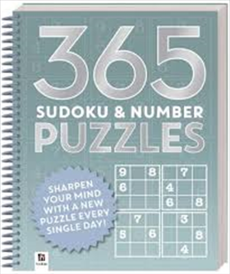 365 Puzzles - Sudoku And Number Puzzles | Hardback Book