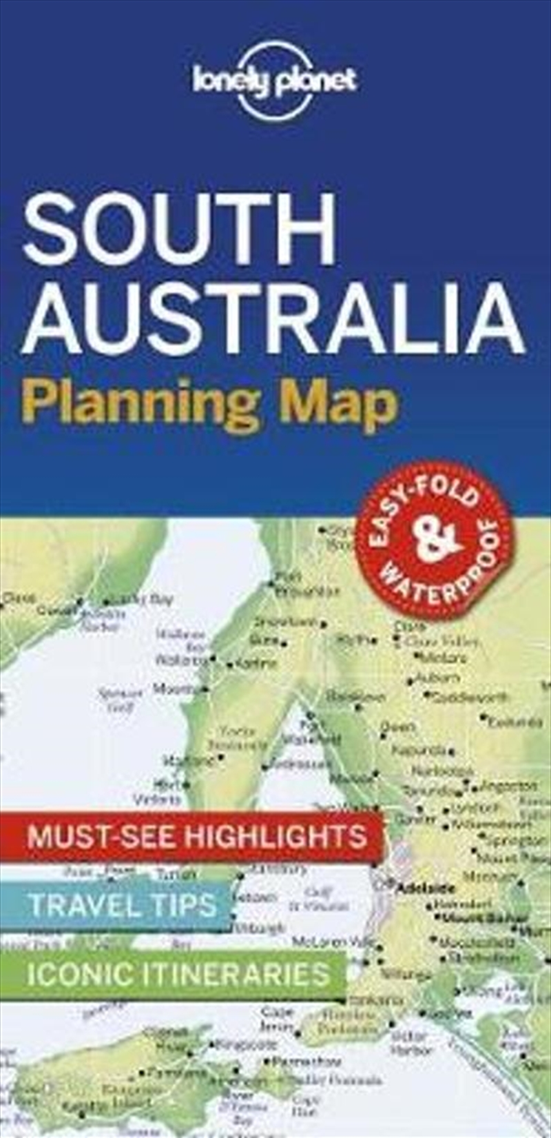 Lonely Planet South Australia Planning Map | Paperback Book