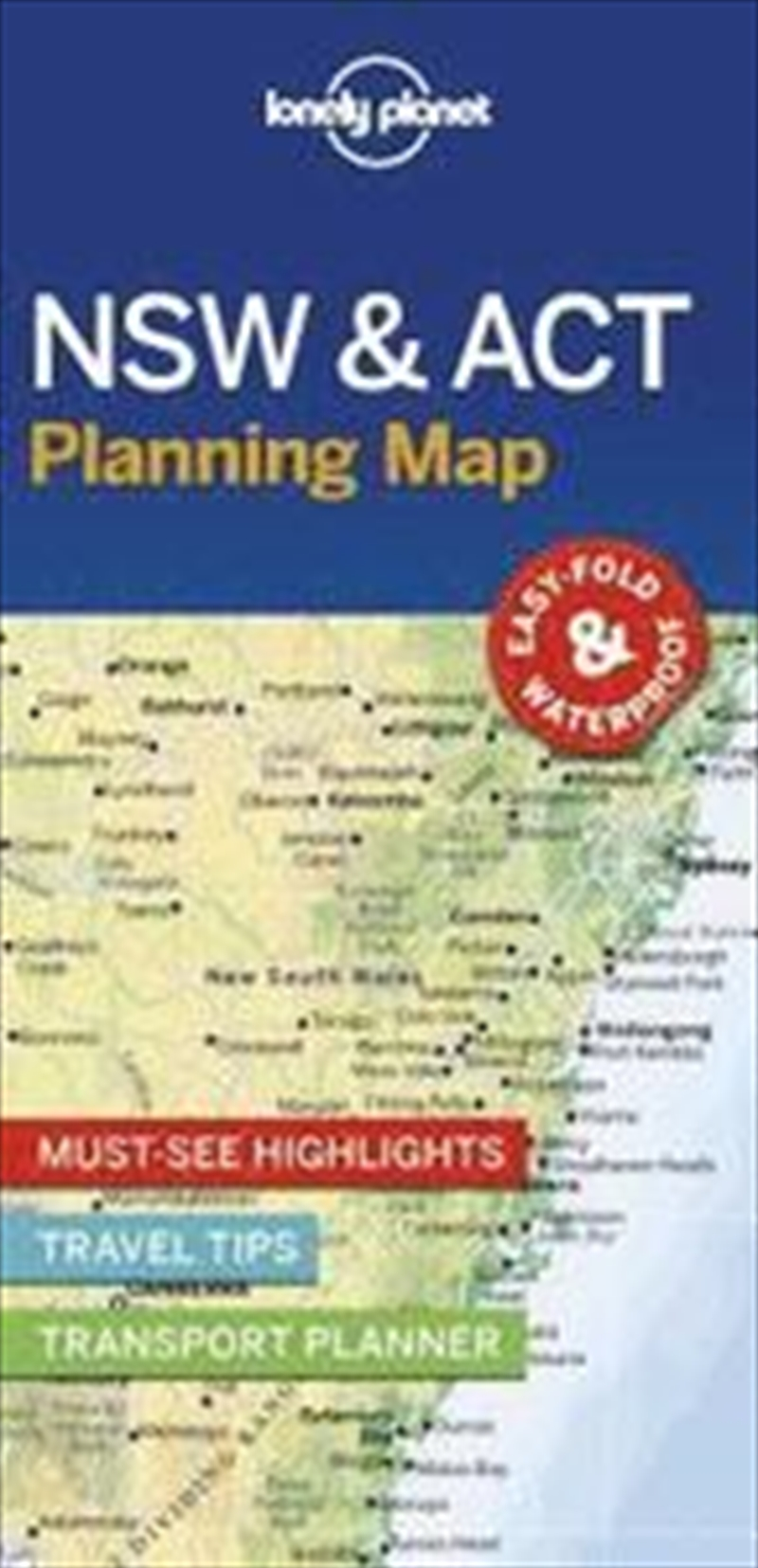 Lonely Planet NSW And ACT Planning Map | Paperback Book