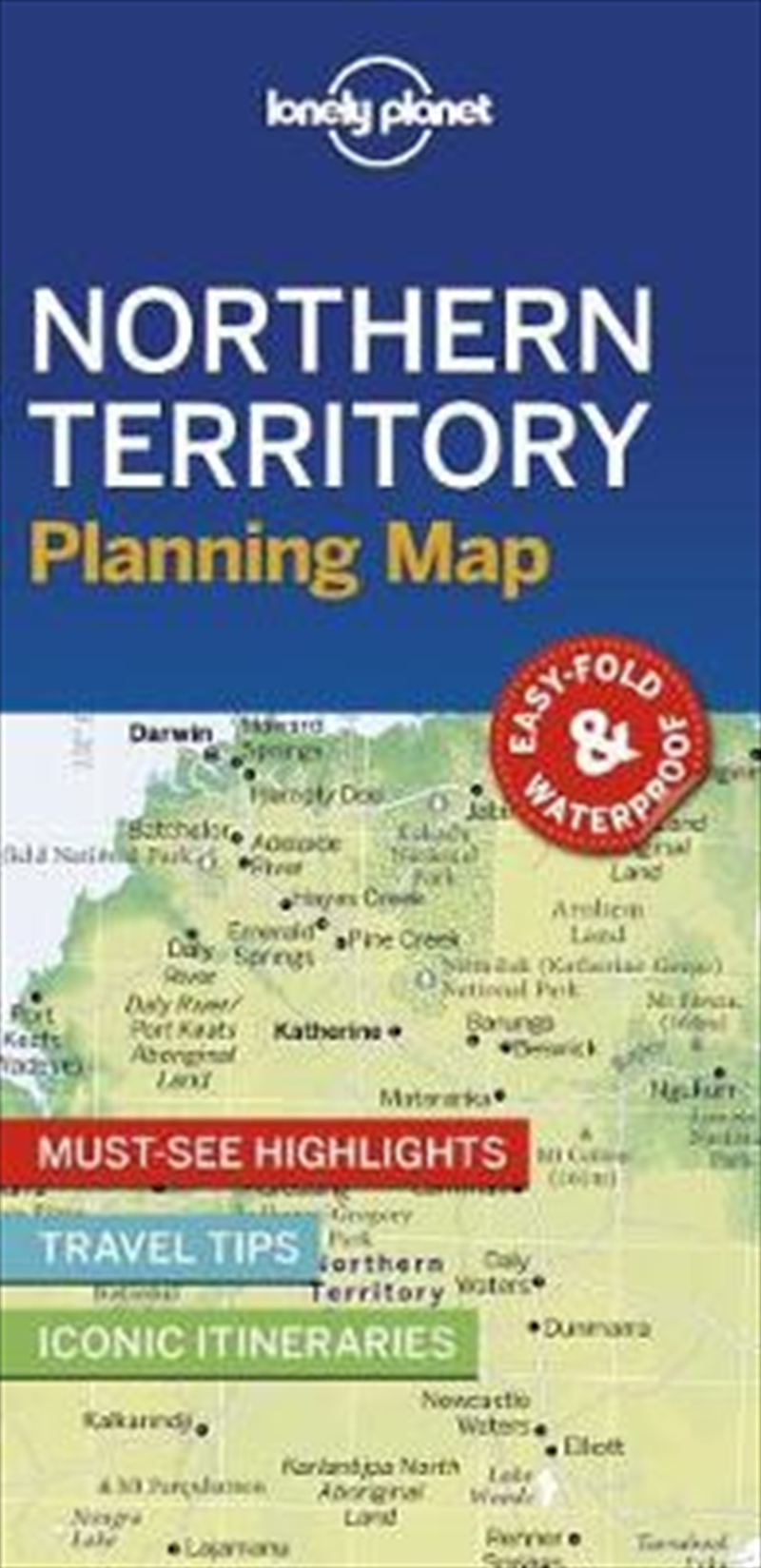 Lonely Planet - Northern Territory Planning Map | Paperback Book