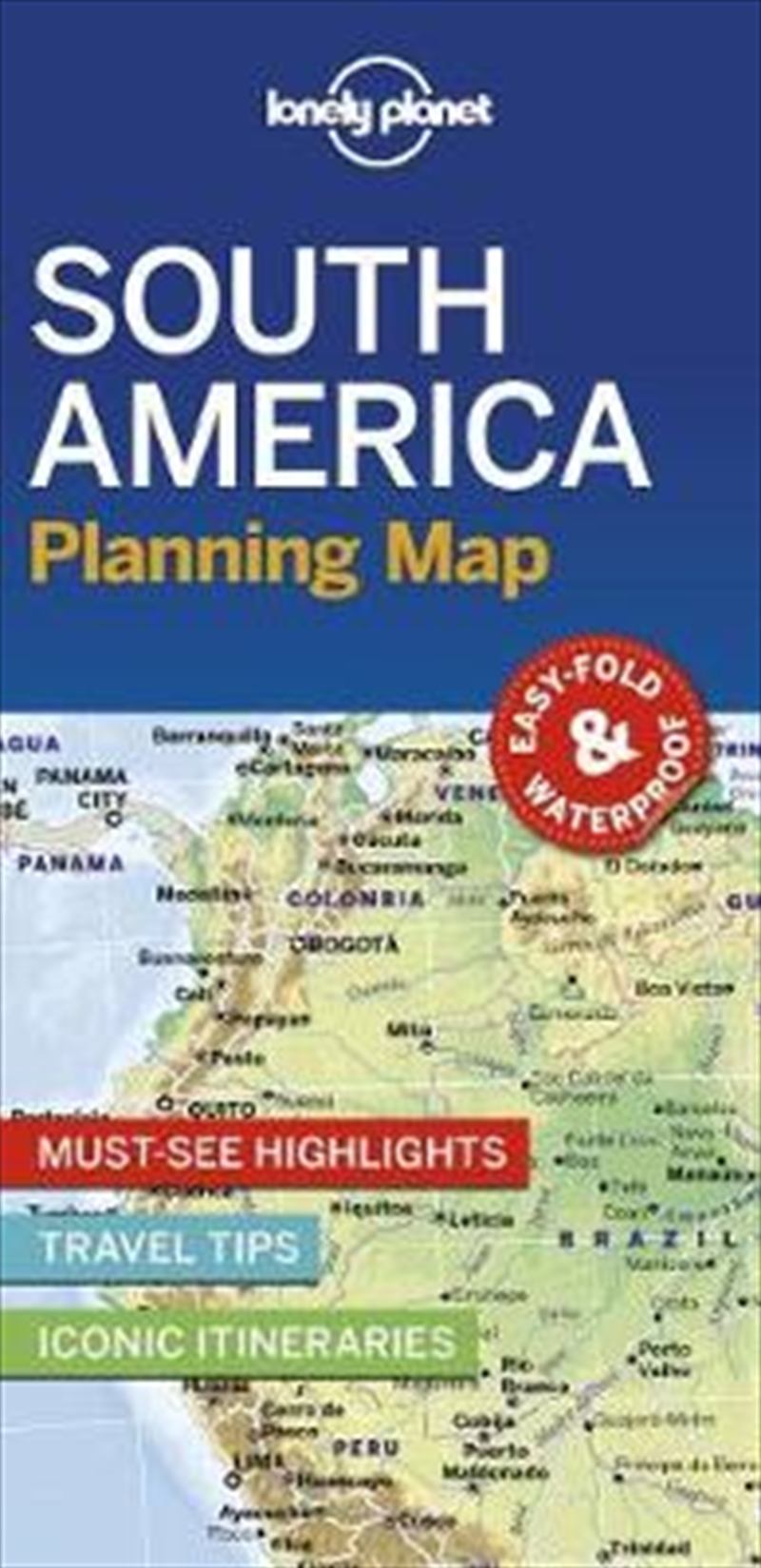 Lonely Planet South America Planning Map | Paperback Book