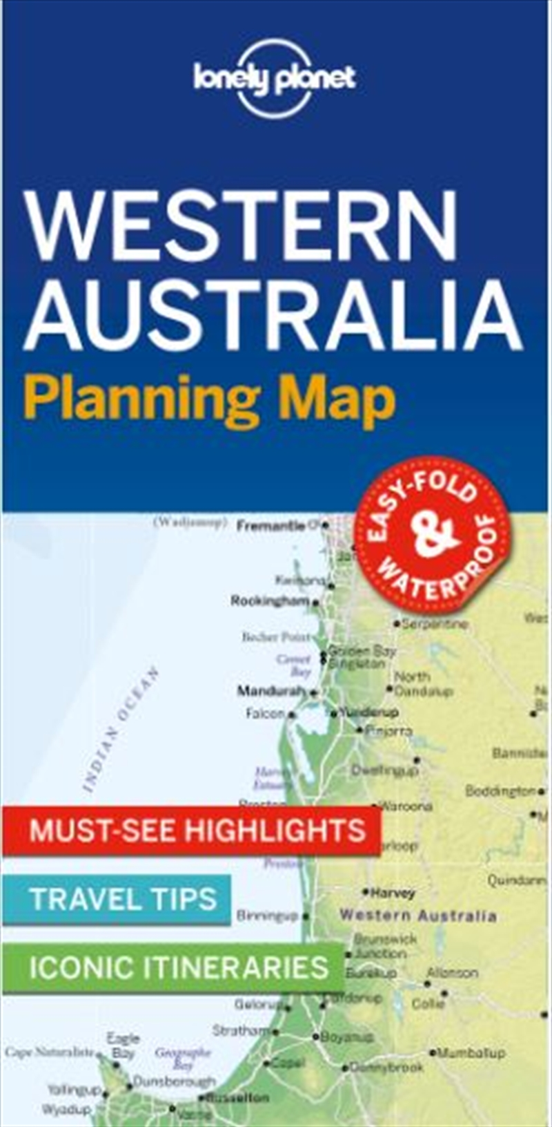 Lonely Planet - Western Australia Planning Map | Paperback Book