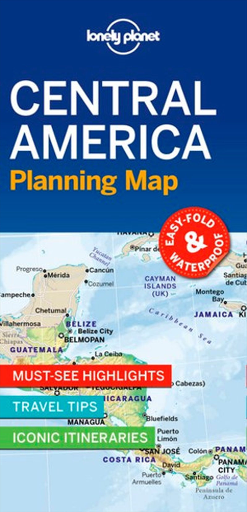 Lonely Planet Central America Planning Map | Paperback Book