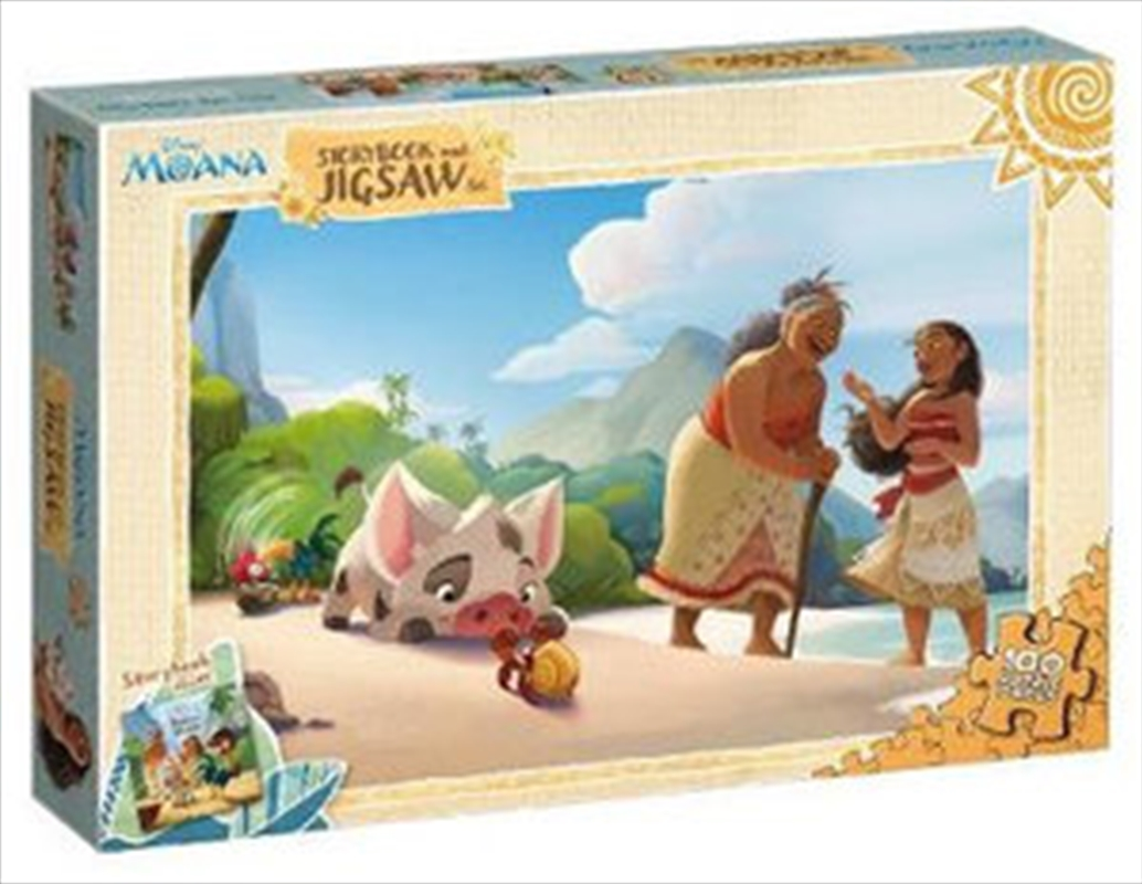 Moana: Storybook and Jigsaw | Paperback Book