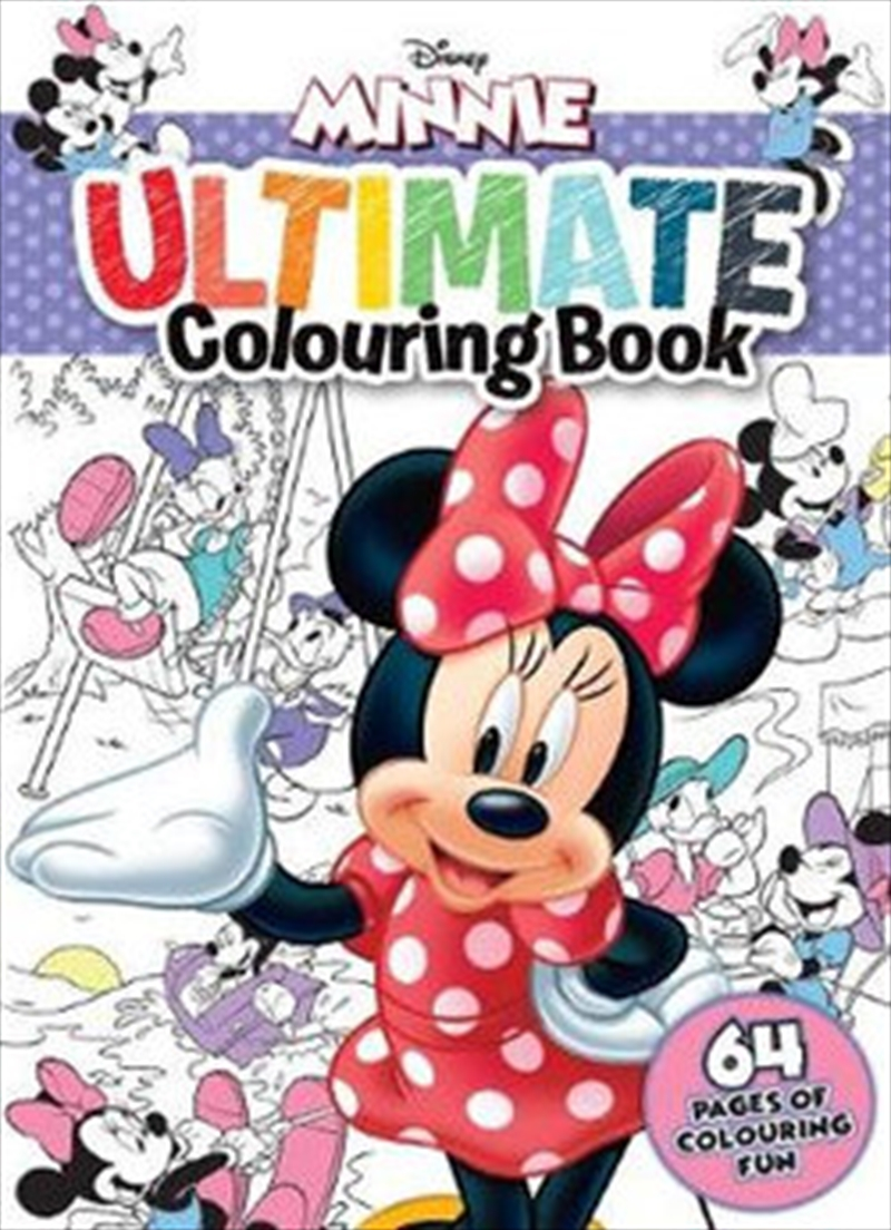 Minnie Mouse: Ultimate Colouring Book   Paperback Book
