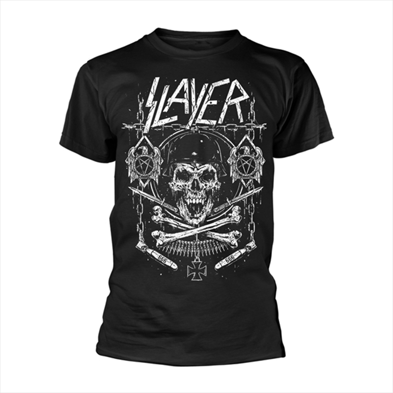 Slayer - Skull And Bones Revised Tshirt - S | Apparel