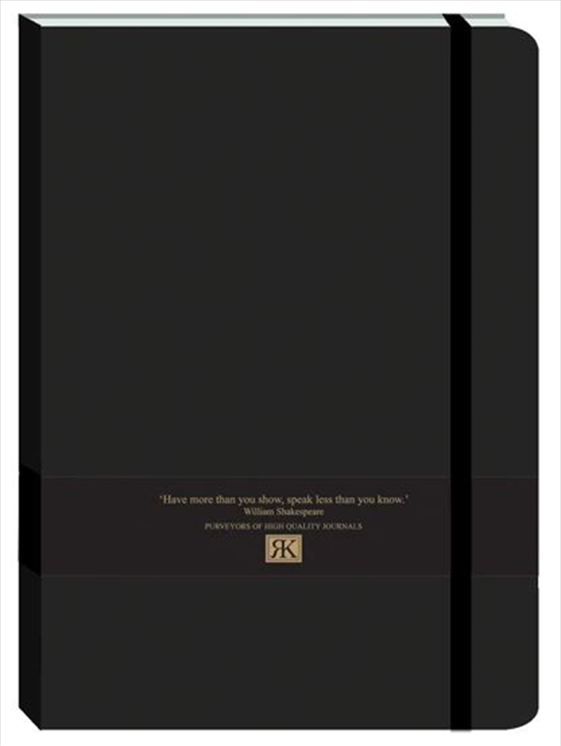 RK Journals - Black Large Pu Journal | Merchandise