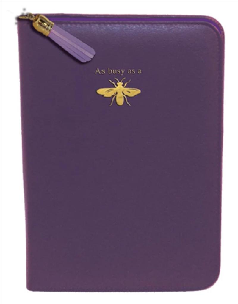 Purple Bee Gold Zip/Tassel | Merchandise