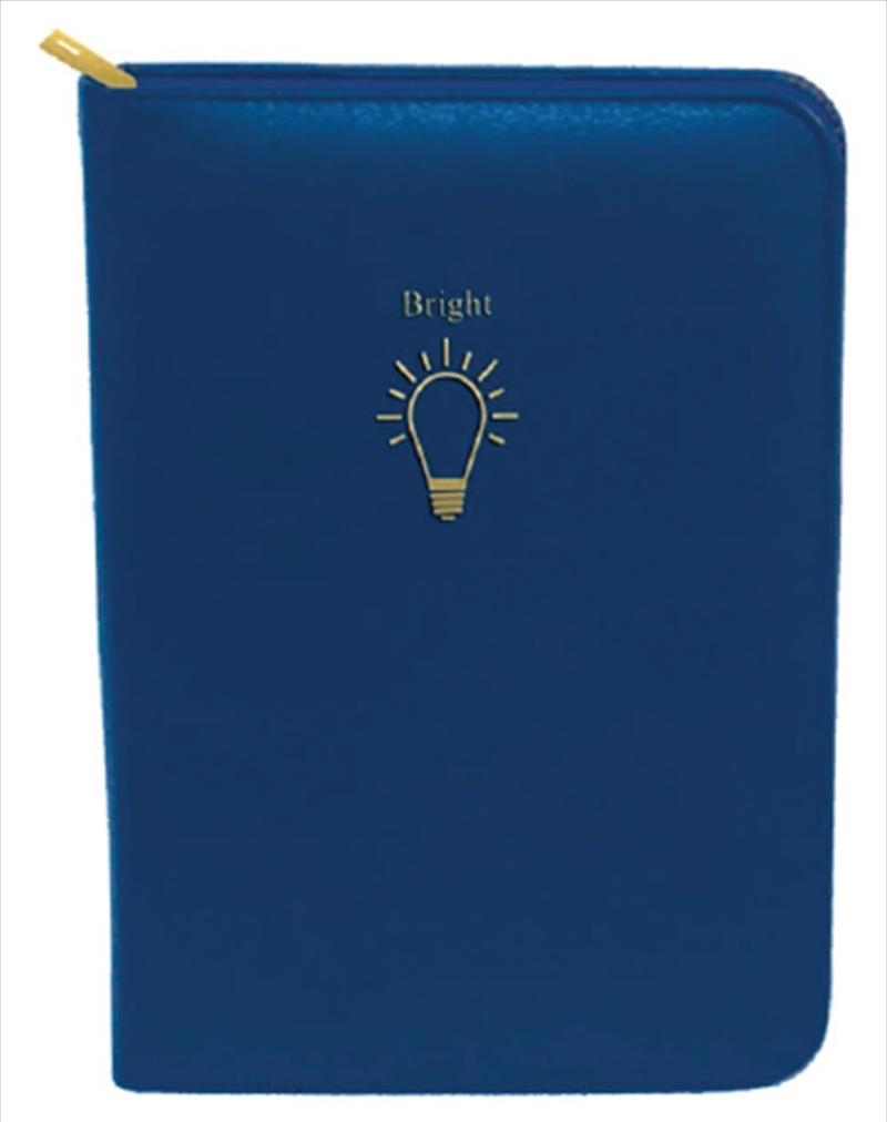 Dark Blue Light Bulb Gold Zip | Merchandise