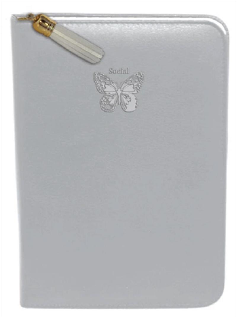 Silver Butterfly Zip/Tassel   Merchandise