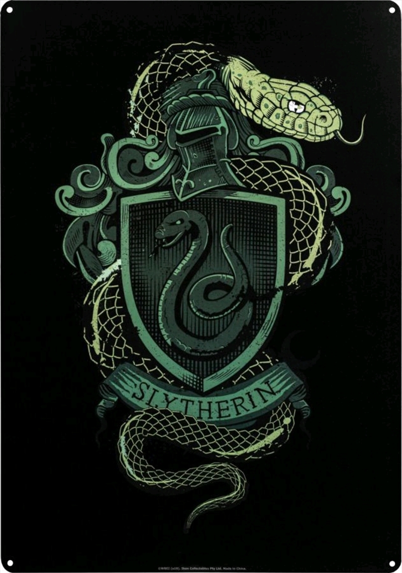 Harry Potter - Slytherin A3 Tin Sign | Merchandise