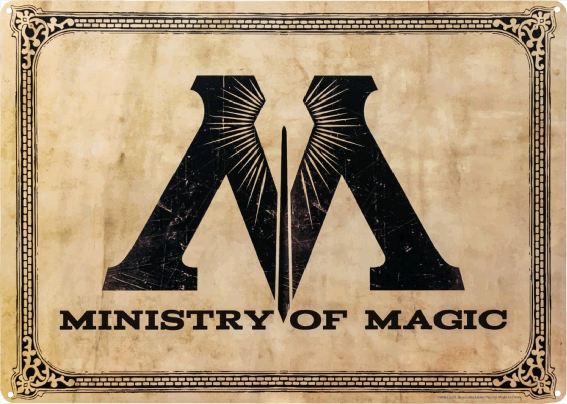 Harry Potter - Ministry of Magic A3 Tin Sign | Merchandise