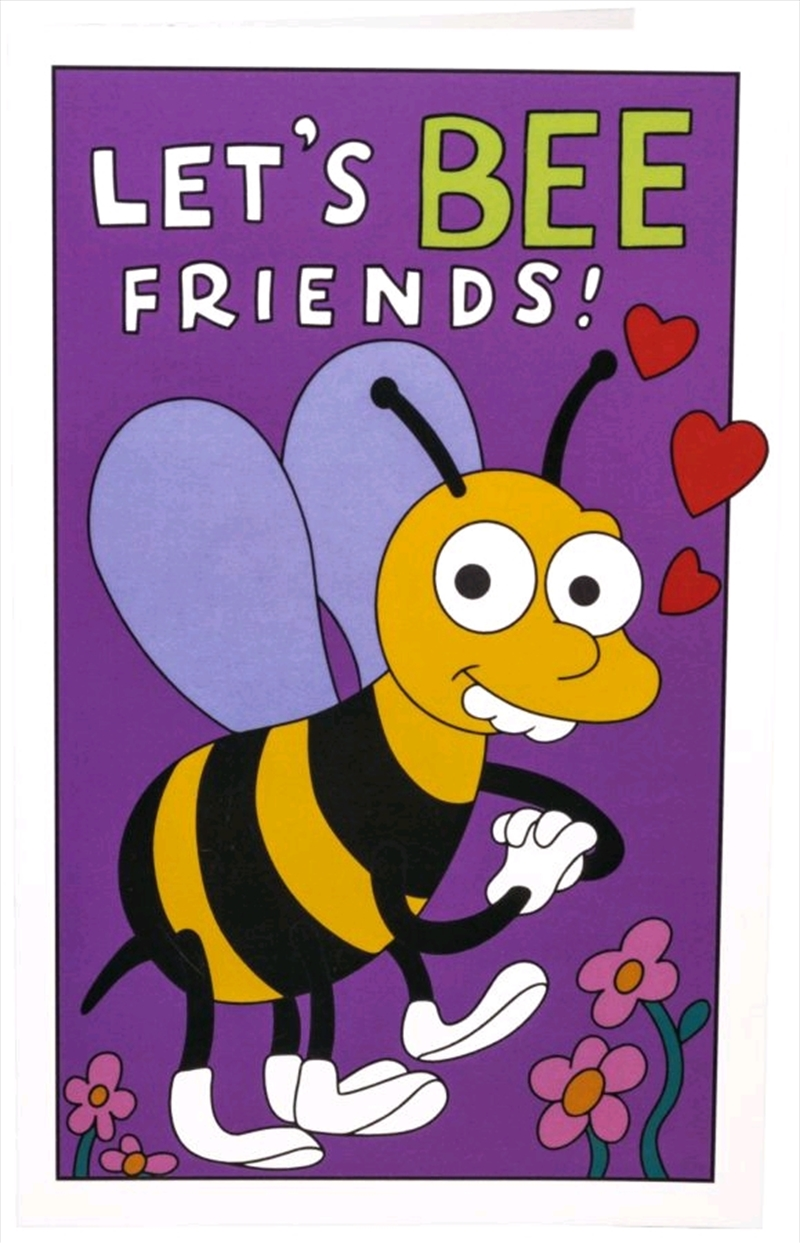 The Simpsons - Let's Bee Friends Replica Valentine's Day Card | Merchandise