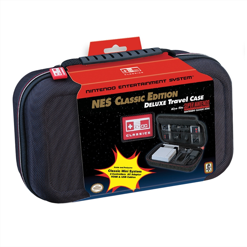 Nintendo Snes/Nes Classic Mini  Deluxe Travel Case - Black | Merchandise