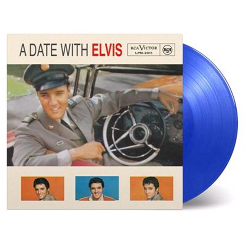 A Date With Elvis - Limited 60th Anniversary Edition Transparent Blue Coloured Vinyl   Vinyl