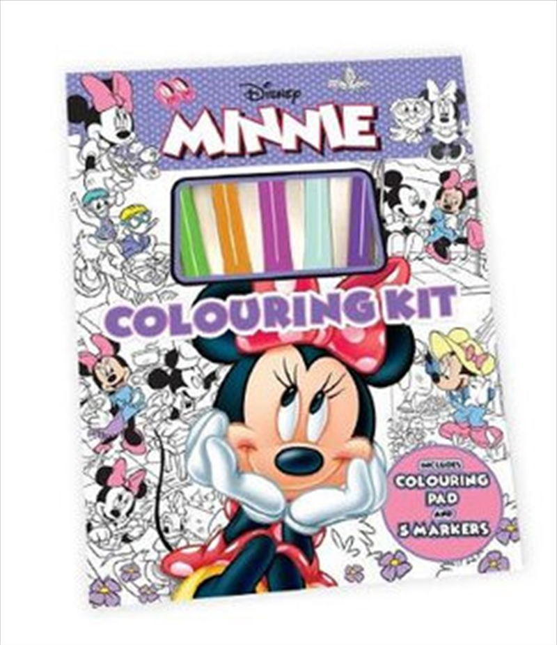 Minnie Mouse: Colouring Kit | Hardback Book