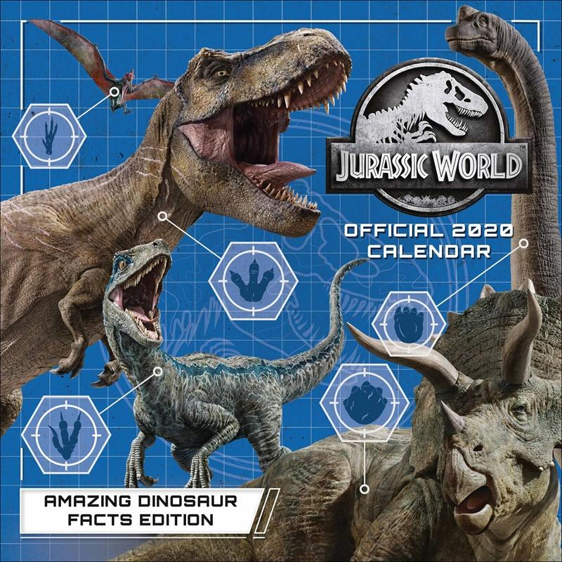 Jurassic World 2020 Calendar - Official Square Wall Format Calendar | Merchandise