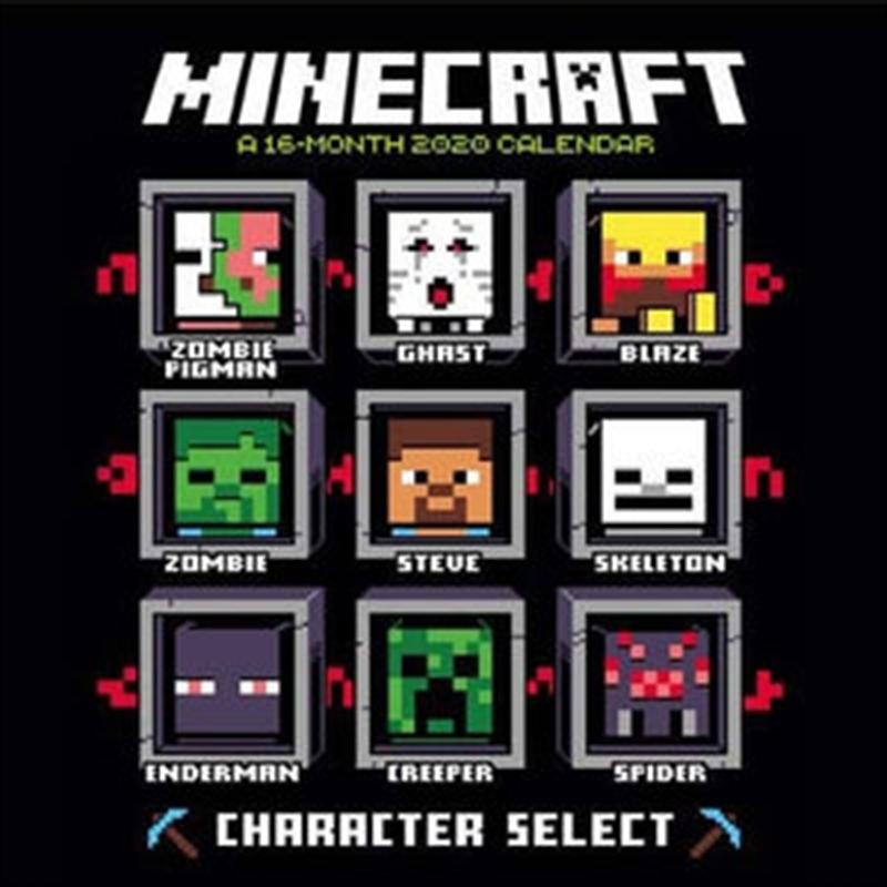 Minecraft 2020 Calendar - Official Square Wall Format Calendar | Merchandise