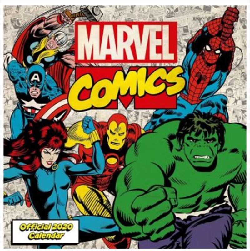 Marvel Comics 2020 Calendar - Official Square Wall Format Calendar   Merchandise