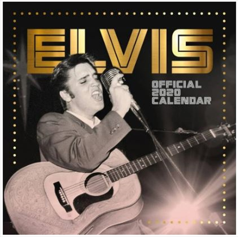 Elvis Square 2020 Calendar - Official Square Wall Format Calendar | Merchandise