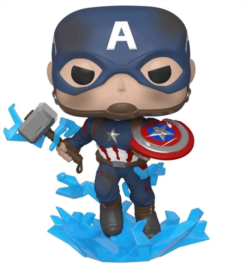 Avengers 4: Endgame - Captain America with Mjolnir Pop! Vinyl | Pop Vinyl