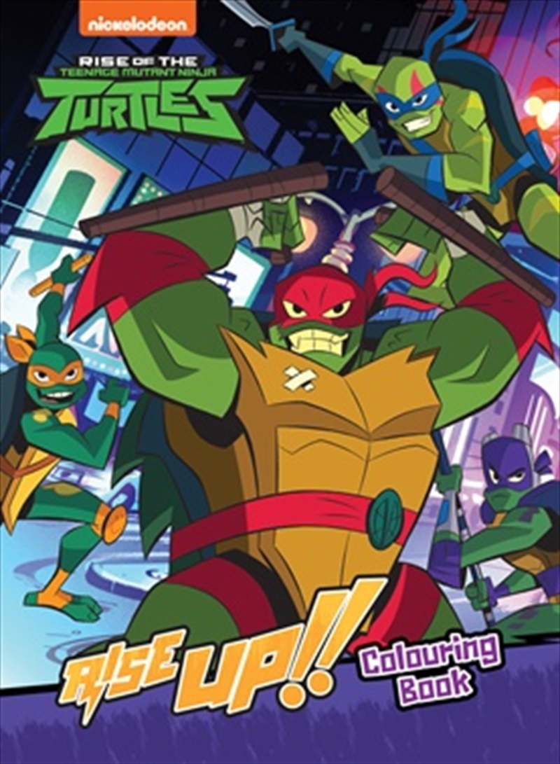 Rise of the Teenage Mutant Ninja Turtles Rise Up! Colouring Book | Paperback Book