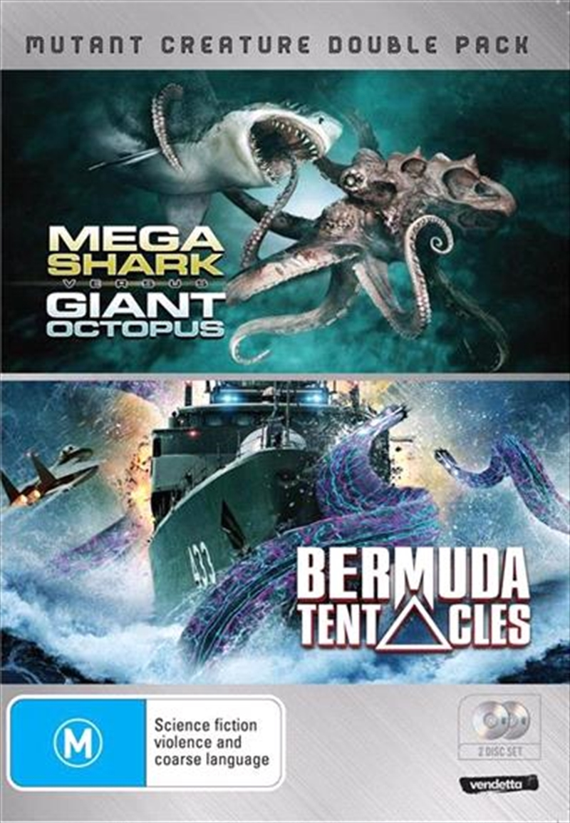 Mutant Creature - Mega Shark Vs Giant Octopus / Bermuda Tentacles | DVD