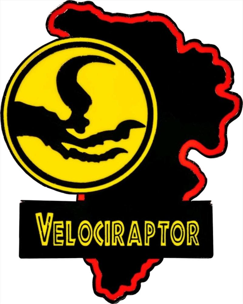 Jurassic Park - Velociraptor Map Enamel Pin | Merchandise