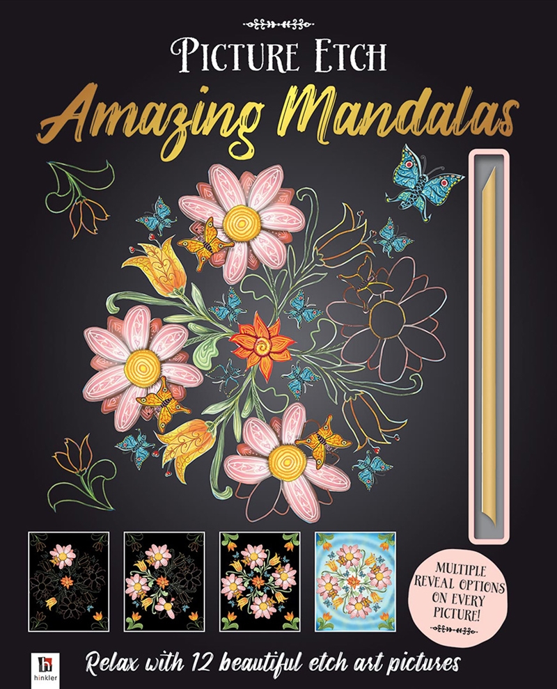 Picture Etch Amazing Mandalas | Hardback Book