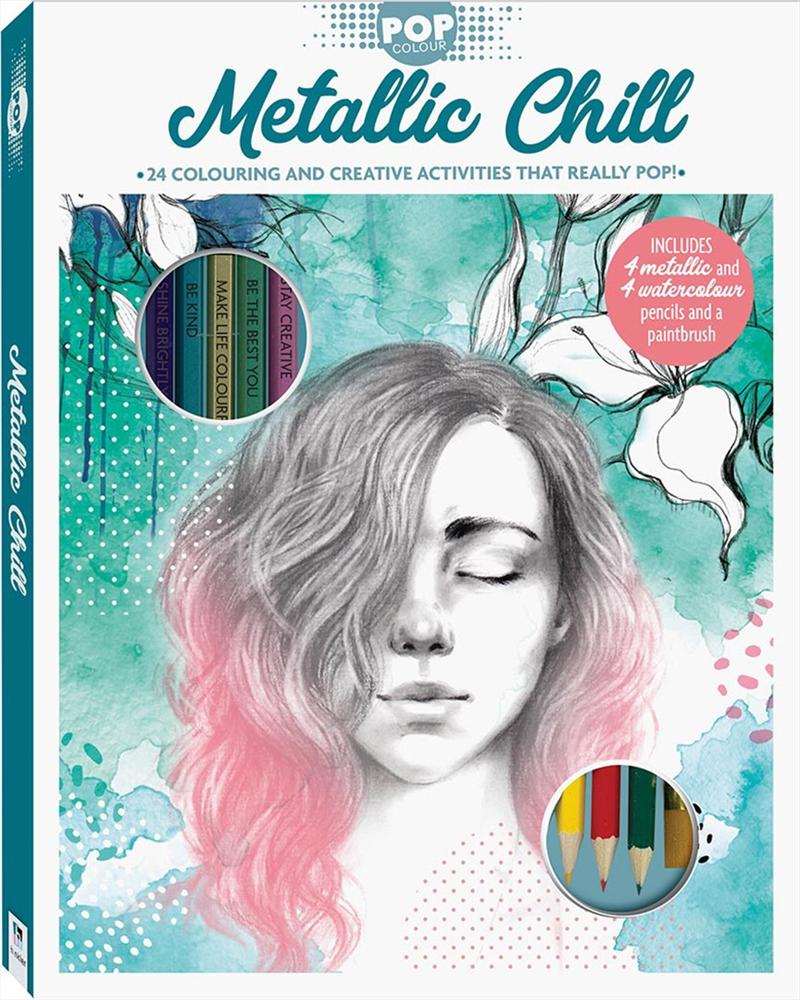 Pop Colour Metallic Chill Kit | Hardback Book