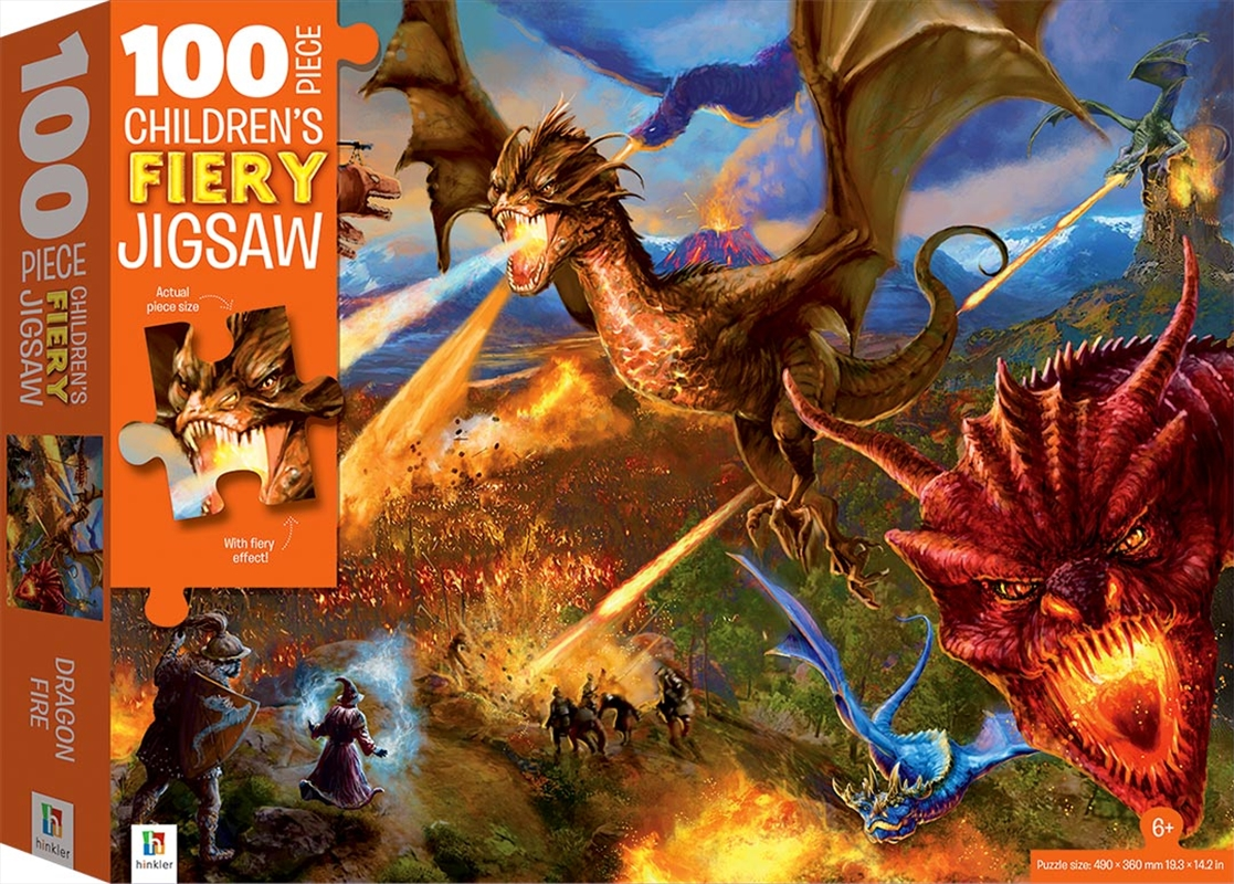 Dragons 100 Piece Children's Fiery Jigsaw with Treatments | Merchandise