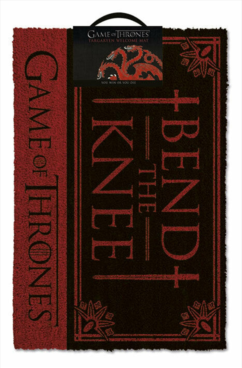 Game Of Thrones (Bend The Knee) Doormat | Merchandise